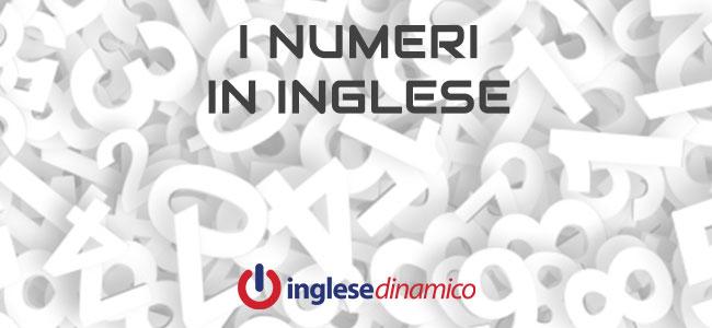 numeri in inglese da 1 a 1000